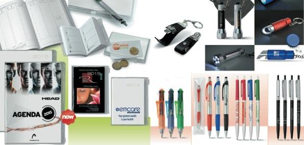 Échantillon de cadeaux publicitaires proposés par CEF.