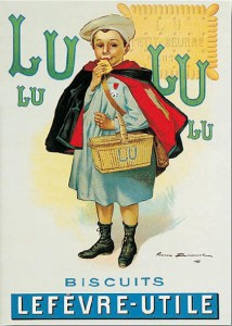Ancienne affiche LU Bouisset