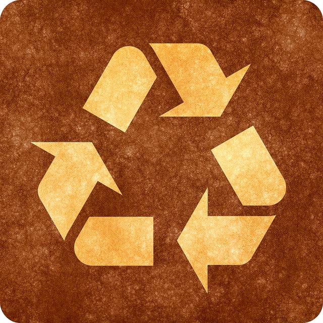 logo de recyclage vintage