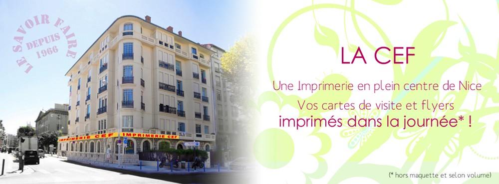 CEF imprimerie Nice